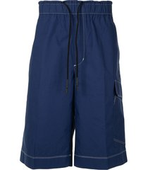 3.1 phillip lim contrast stitch shorts - blue