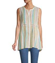 for the republic women's sparkle stripe tunic top - striped - size l