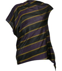 08sircus striped asymmetric blouse - purple