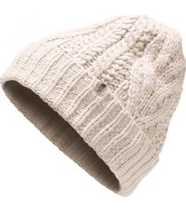 gorro cable minna blanco the north face