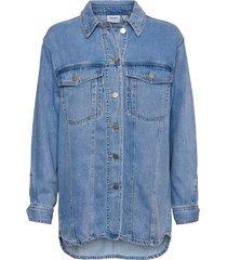 skjortjacka vmemery ls oversize denim shirt