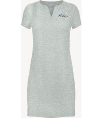 tommy hilfiger women's essential split-neck dress grey heather - s