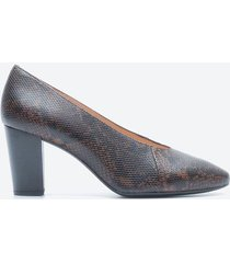 tacones casuales mujer unisa shoes z1ab animal print