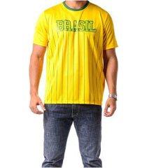 camiseta braziline manga curta brasil xingu adulto