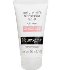gel creme hidratante facial neutrogena oil free para pele mista a oleosa 50ml - kanui