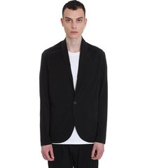 attachment casual jacket in black polyester