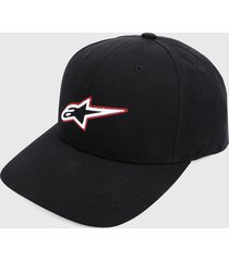 gorra negro-blanco-rojo alpinestars trace velo