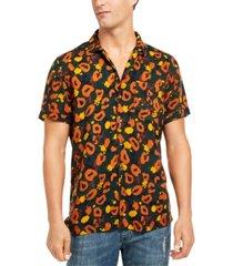 inc men's abstract animal print shirt, created for macy's