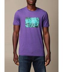 diesel t-shirt diesel cotton t-shirt with logo