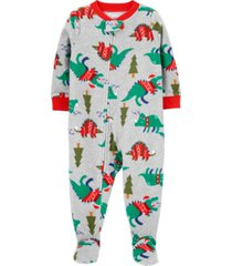 carter's baby boy 1-piece christmas fleece footie pjs