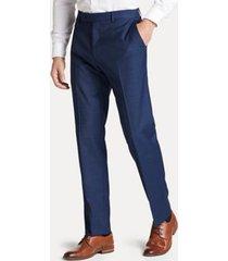 tommy hilfiger men's regular fit suit pant in blue plaid blue plaid - 36/32