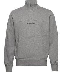 instit chest logo mo sweat-shirt trui grijs calvin klein jeans