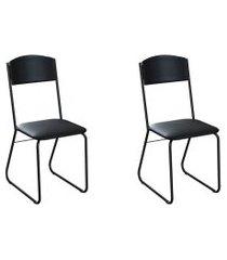 conjunto com 2 cadeiras byron preto