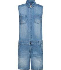 tuta in jeans con bottoni a pressione (blu) - rainbow