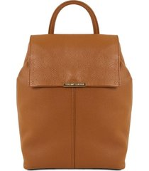 tuscany leather tl141706 tl bag - zaino donna in pelle morbida cognac
