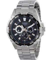 mtd-1069d-1av reloj multicalendario hombre negro