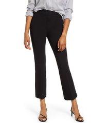 women's spanx ponte crop flare pants, size 3 x - black