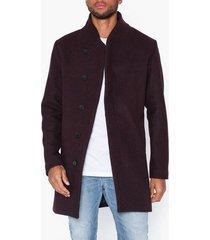 premium by jack & jones jprcollum wool coat sts jackor mörk röd