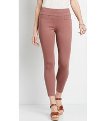 maurices womens textured bengaline skinny ankle pants brown
