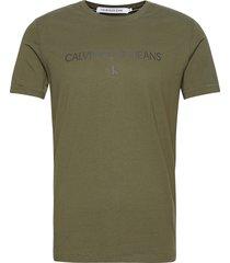 archive logo tee t-shirts short-sleeved grön calvin klein jeans