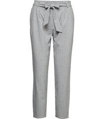slfbio biga mw cropped pant b byxa med raka ben grå selected femme