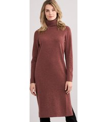 middellang cashmere jurk met coltrui