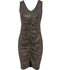 abito metallizzato con arricciatura (nero) - bodyflirt