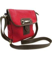 bolsa relicário carteiro de couro nancy vermelho