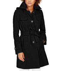 via spiga belted hooded trench coat