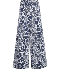adam lippes tie-waist trousers - blue