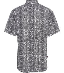 grande s/s shirt kortärmad skjorta multi/mönstrad denim project