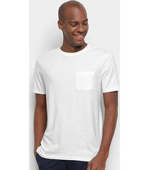 camiseta gap básica lisa bolso masculina - masculino