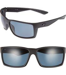 costa del mar reefton 65mm polarized sunglasses in blackout/grey at nordstrom