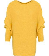 oversized soft trui geel