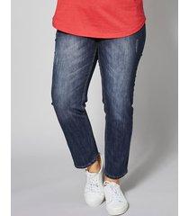 ankellånga jeans janet & joyce mörkblå