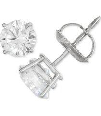 certified diamond stud earrings (1/2 ct. t.w.) in 14k white gold