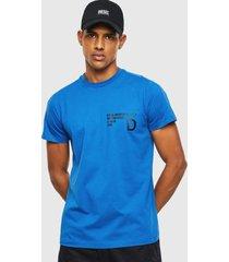 polera t hover t shirt 8ii azul diesel