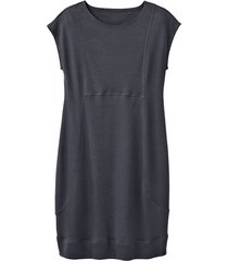 jersey jurk, antraciet 36/38