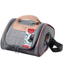 bolsa térmica maped picnik com alça de mão e tapete de mesa vermelho 4,4l