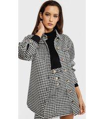 chaqueta missguided negro - calce holgado
