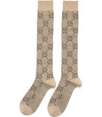 gg logo intarsia socks