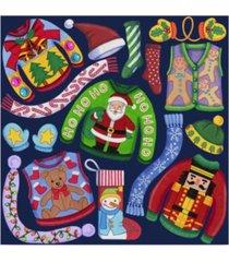 "kimura designs 'christmas ugly sweaters' canvas art - 14"" x 14"""