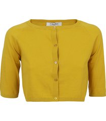 mustard cotton cardigan