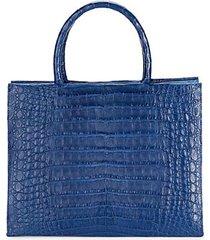 medium crocodile leather shopper bag