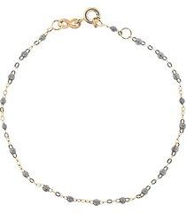 gigi clozeau 14kt rose gold classic gigi bracelet - 19-grey