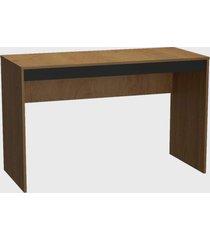 conjunto p/ escritã³rio mesa e estante mel e preto nova mobile - marrom - dafiti