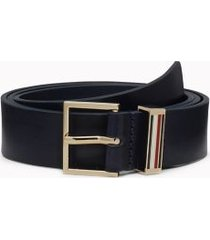 tommy hilfiger women's accent stripe leather belt sky captain - 40