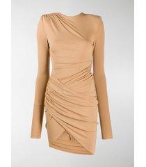 alexandre vauthier gathered wrap dress