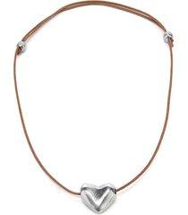 collar de mujer plateado  petit coeur by vestopazzo