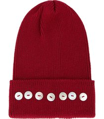 0711 isola embellished beanie hat - red